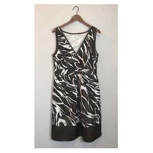Banana Republic | Silk Zebra Animal Print Dress